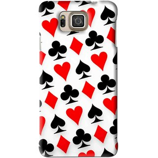Snooky Printed Playing Cards Mobile Back Cover For Samsung Galaxy Alpha - Multi