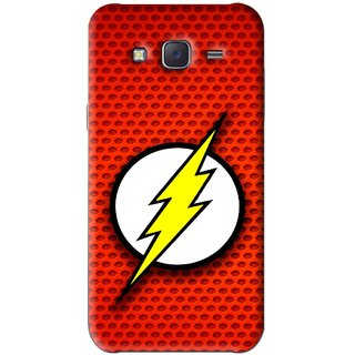 Snooky Printed Dont Touch Mobile Back Cover For Samsung Galaxy J5 - Red