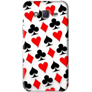 Snooky Printed Playing Cards Mobile Back Cover For Samsung Galaxy J5 - Multi