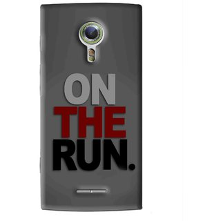 Snooky Printed On The Run Mobile Back Cover For Alcatel Flash 2 - Grey