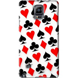 Snooky Printed Playing Cards Mobile Back Cover For Samsung Galaxy Note 4 - Multi