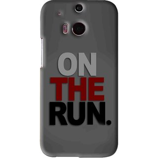Snooky Printed On The Run Mobile Back Cover For HTC One M8 - Grey