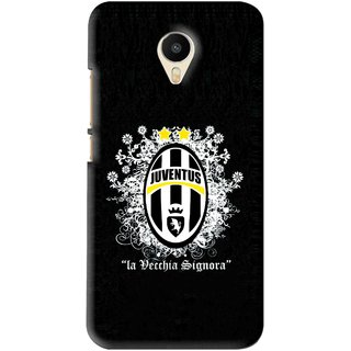 Snooky Printed Signora Mobile Back Cover For Meizu M1 Metal - Black
