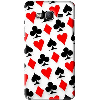 Snooky Printed Playing Cards Mobile Back Cover For Samsung Galaxy On5 - Multi