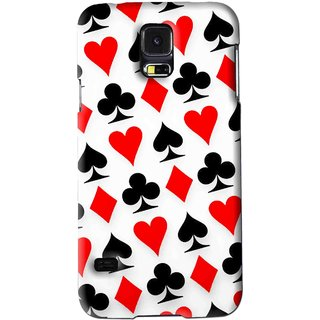 Snooky Printed Playing Cards Mobile Back Cover For Samsung Galaxy S5 - Multi