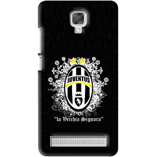 Snooky Printed Signora Mobile Back Cover For Micromax Bolt Q331 - Black