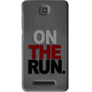 Snooky Printed On The Run Mobile Back Cover For Lenovo A1900 - Grey
