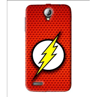 Snooky Printed Dont Touch Mobile Back Cover For Lenovo A850 - Red