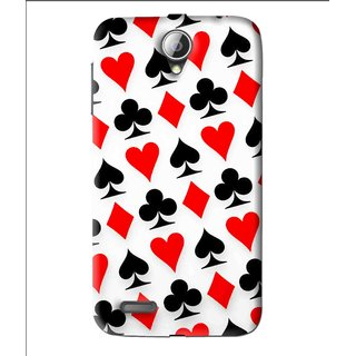 Snooky Printed Playing Cards Mobile Back Cover For Lenovo A850 - Multi