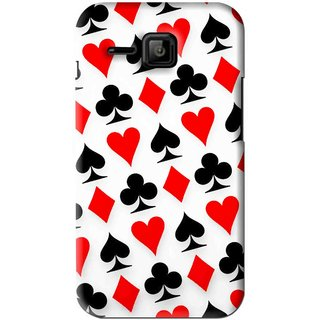 Snooky Printed Playing Cards Mobile Back Cover For Micromax Bolt S301 - Multi