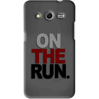 Snooky Printed On The Run Mobile Back Cover For Micromax Canvas Nitro 3 E455 - Grey