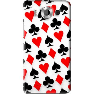 Snooky Printed Playing Cards Mobile Back Cover For Microsoft Lumia 950 - Multi