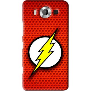 Snooky Printed Dont Touch Mobile Back Cover For Microsoft Lumia 950 - Red