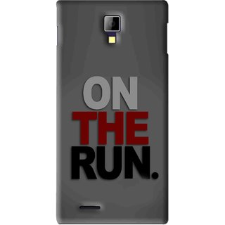 Snooky Printed On The Run Mobile Back Cover For Micromax Canvas Xpress A99 - Grey