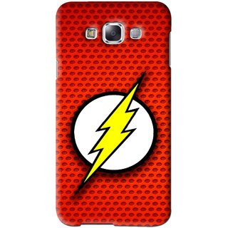 Snooky Printed Dont Touch Mobile Back Cover For Samsung Galaxy E7 - Red