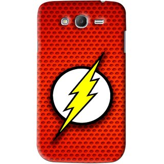 Snooky Printed Dont Touch Mobile Back Cover For Samsung Galaxy Grand - Red
