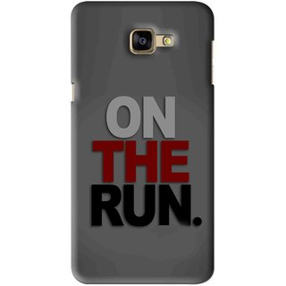Snooky Printed On The Run Mobile Back Cover For Samsung Galaxy A9 - Grey