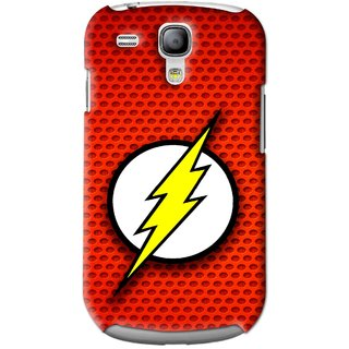 Snooky Printed Dont Touch Mobile Back Cover For Samsung Galaxy S3 Mini - Red