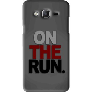 Snooky Printed On The Run Mobile Back Cover For Samsung Galaxy On5 - Grey
