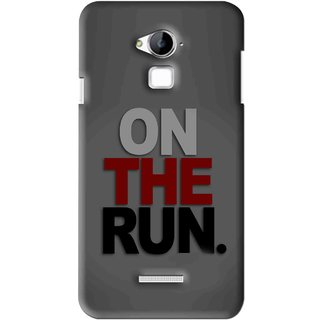 Snooky Printed On The Run Mobile Back Cover For Coolpad Dazen Note 3 - Grey