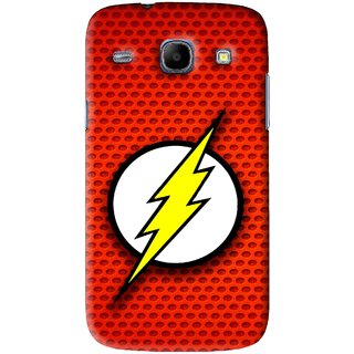 Snooky Printed Dont Touch Mobile Back Cover For Samsung Galaxy 8262 - Red
