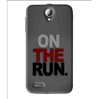 Snooky Printed On The Run Mobile Back Cover For Lenovo A850 - Grey