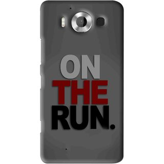 Snooky Printed On The Run Mobile Back Cover For Microsoft Lumia 950 - Grey
