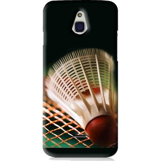 Snooky Printed Badminton Mobile Back Cover For Infocus M2 - Black