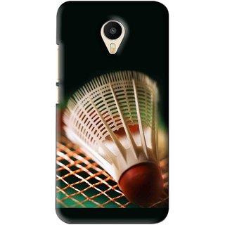 Snooky Printed Badminton Mobile Back Cover For Meizu M1 Metal - Black