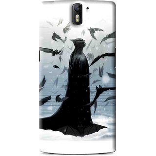 Snooky Printed Black Bats Mobile Back Cover For OnePlus One - Black