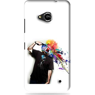 Snooky Printed Shooting Joker Mobile Back Cover For Microsoft Lumia 550 - White