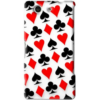 Snooky Printed Playing Cards Mobile Back Cover For Sony Xperia Z4 Mini - Multi