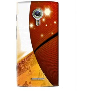 Snooky Printed Basketball Club Mobile Back Cover For Alcatel Flash 2 - Brown