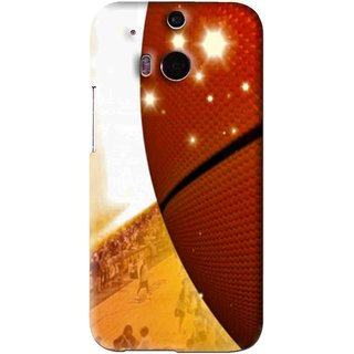 Snooky Printed Basketball Club Mobile Back Cover For HTC One M8 - Brown