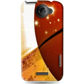Snooky Printed Basketball Club Mobile Back Cover For HTC One X - Brown