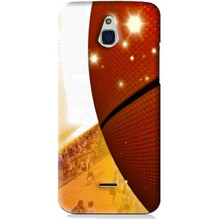 Snooky Printed Basketball Club Mobile Back Cover For Infocus M2 - Brown