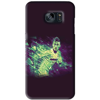 Snooky Printed Running Boy Mobile Back Cover For Samsung Galaxy S7 - Blue