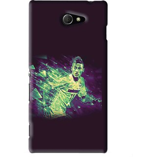 Snooky Printed Running Boy Mobile Back Cover For Sony Xperia M2 - Blue