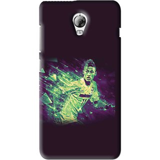 Snooky Printed Running Boy Mobile Back Cover For Lenovo Vibe P1 - Blue