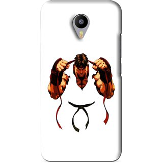 Snooky Printed Karate Boy Mobile Back Cover For Meizu M1 Note - White