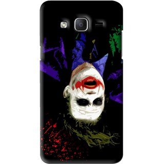 Snooky Printed Hanging Joker Mobile Back Cover For Samsung Galaxy On7 - Black