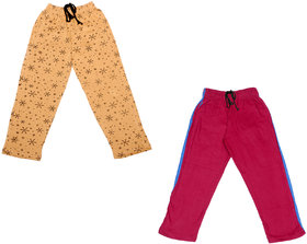 IndiWeaves Girls Premium Cotton Full Length Lower/Track Pants/Pyjamas with 2 Open Pockets(Pack of 2)_Multicolor_2-3 Years_3601333-IW-P2-22