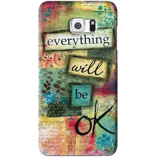 Snooky Printed Will Ok Mobile Back Cover For Samsung Galaxy S6 Edge Plus - Multi