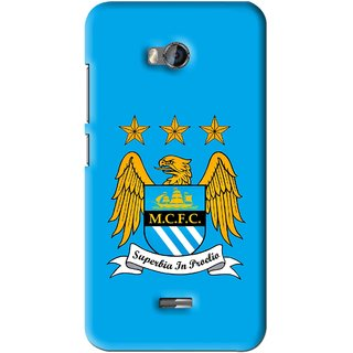 Snooky Printed Eagle Logo Mobile Back Cover For Micromax Bolt Q336 - Blue