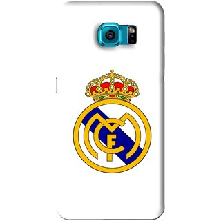 Snooky Printed Sports Logo Mobile Back Cover For Samsung Galaxy S6 Edge - White
