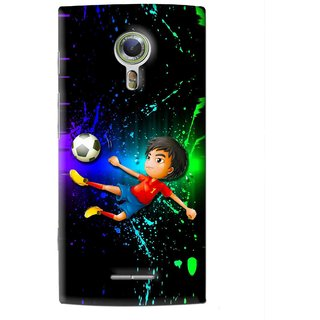 Snooky Printed High Kick Mobile Back Cover For Alcatel Flash 2 - Multi