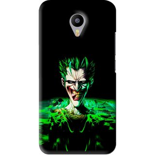 Snooky Printed Daring Joker Mobile Back Cover For Meizu M2 Note - Green