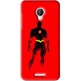 Snooky Printed Electric Man Mobile Back Cover For Micromax Canvas Spark Q380 - Red