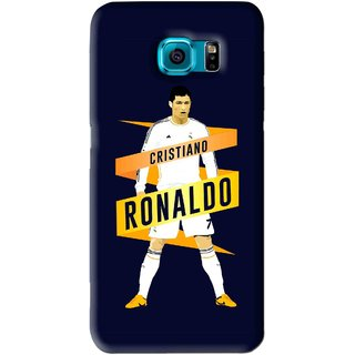 Snooky Printed Ronaldo Mobile Back Cover For Samsung Galaxy S6 Edge - Blue