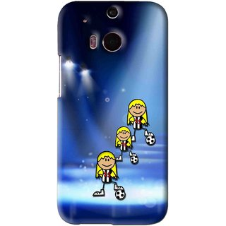 Snooky Printed Girls On Top Mobile Back Cover For HTC One M8 - Blue